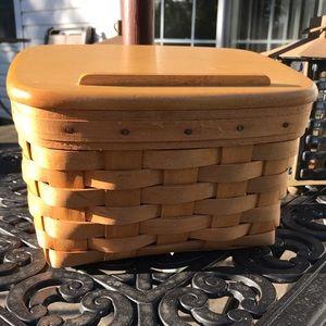Longaberger Recipe Basket & Lid (1996)